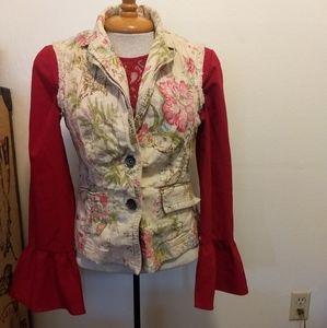 Nine & Co vintage style floral vest
